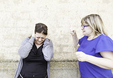 Female friends fighting Royalty Free Stock Photos