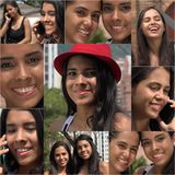 Female Friends And Friendship Collage Stock Photo