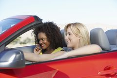 Female Friends Going For A Drive Stock Image
