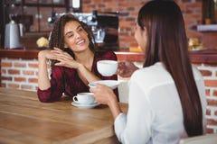 Female friends having coffee Royalty Free Stock Image
