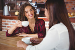 Female friends having coffee Royalty Free Stock Image