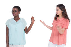 Female friends having a disagreement Royalty Free Stock Photo