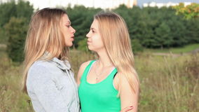 Female friends talking. Royalty Free Stock Photo