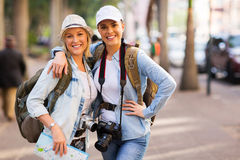 Female friends touring Royalty Free Stock Images