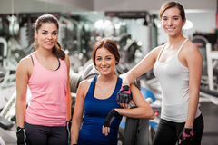 Female friends working out together Royalty Free Stock Photography