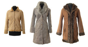 Female fur coats collection # 1 | Isolated Stock Photos
