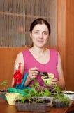Female gardener Stock Photo