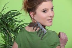 Female gardener Stock Images