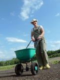 Gardener and seeder Stock Images