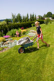 Female gardening Stock Photo