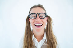 Female geeky hipster smiling at camera Stock Photography