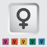 Female gender sign Royalty Free Stock Image