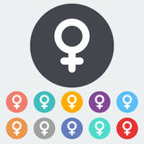Female gender sign Royalty Free Stock Photos