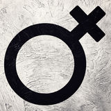 The female gender symbol. Retro style. Stock Photos