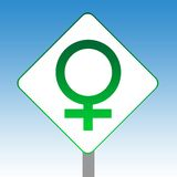 Female gender symbol sign Stock Photography