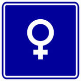 Female gender symbol vector sign Stock Photos