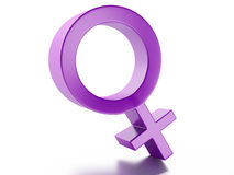 Female gender symbol  on white background Stock Photography