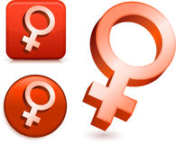 Female Gender Symbols Stock Image