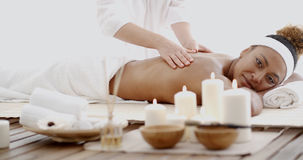 Female Getting A Massage Stock Image