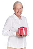 Female with gift Stock Images