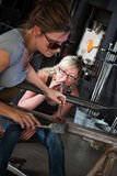 Female Glass Makers Stock Images