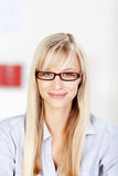 Female with glasses Royalty Free Stock Photos