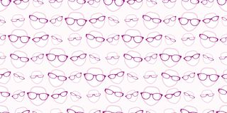 Female glasses seamless background pattern Royalty Free Stock Image