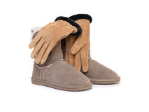 Female Gloves And Boots Royalty Free Stock Photography