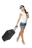 Female going to vacations Royalty Free Stock Photos