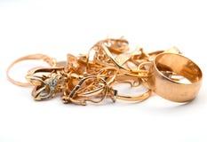 Female golden rings Royalty Free Stock Photo