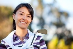 Female golf player Stock Photography