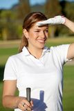 Female golf player Stock Photos