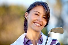 Female golf player Royalty Free Stock Images