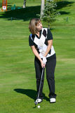 Female golfer Royalty Free Stock Images