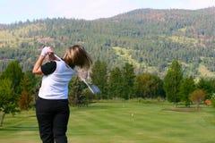female golfer στοκ φωτογραφία με δικαίωμα ελεύθερης χρήσης
