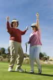 Female Golfers Cheering Royalty Free Stock Photo