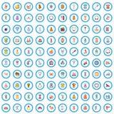 100 female goods icons set, cartoon style. 100 female goods icons set. Cartoon illustration of 100 female goods vector icons isolated on white background stock illustration