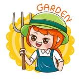 Female_Gradener_vector illustration stock