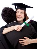 Female graduate celebrating Royalty Free Stock Photos