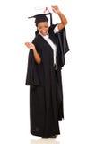 Female graduate celebrating Stock Image