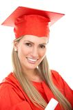 Female graduate portrait Royalty Free Stock Photography