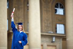 Female graduate Royalty Free Stock Images