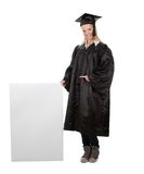 Female graduate student presenting empty board Stock Photography