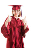Female Graduate Thumbs Up Stock Image