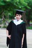 Female graduate wear graduation cap Royalty Free Stock Photos