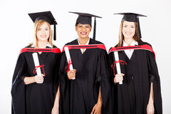 Female graduates Stock Images
