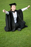 Female graduating Stock Image