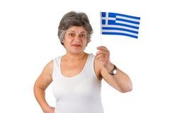 Female greek senior Royalty Free Stock Image