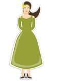 Female in green dress Royalty Free Stock Image