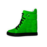 Female green shoes Stock Photos